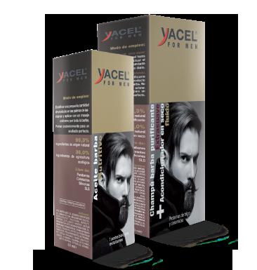 cuidado de barba de yacel for men