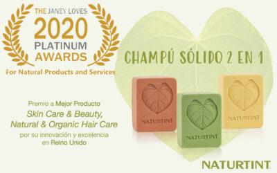 Champús sólidos 2 en 1 de Naturtint, reconocidos como uno de los mejores productos naturales para el cabello en Reino Unido